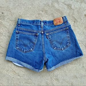Levi's Denim Jean Cut Off Shorts